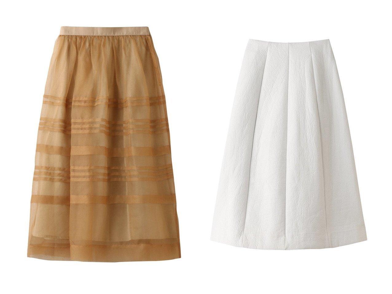【LE CIEL BLEU/ルシェル ブルー】のテクスチャードベルシェイプスカート&【Curensology/カレンソロジー】の【Nesessaire】 SO スカート スカートのおすすめ!人気、レディースファッションの通販 おすすめで人気のファッション通販商品 インテリア・家具・キッズファッション・メンズファッション・レディースファッション・服の通販 founy(ファニー) https://founy.com/ ファッション Fashion レディース WOMEN スカート Skirt ロングスカート Long Skirt エアリー チュール トレンド パーティ ボーダー ランダム ロング |ID:crp329100000000063