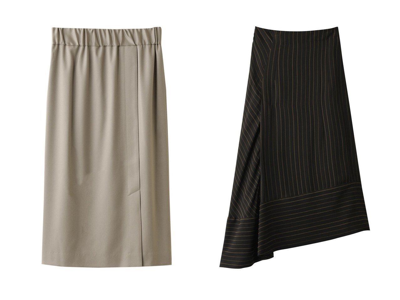 【RITO/リト】のキュプラシャイニーストライプフレアスカート&【1er Arrondissement/プルミエ アロンディスモン】のパイピングスリットスカート スカートのおすすめ!人気、レディースファッションの通販 おすすめで人気のファッション通販商品 インテリア・家具・キッズファッション・メンズファッション・レディースファッション・服の通販 founy(ファニー) https://founy.com/ ファッション Fashion レディース WOMEN スカート Skirt Aライン/フレアスカート Flared A-Line Skirts シンプル イレギュラーヘム キュプラ ストライプ セットアップ ロング |ID:crp329100000000069