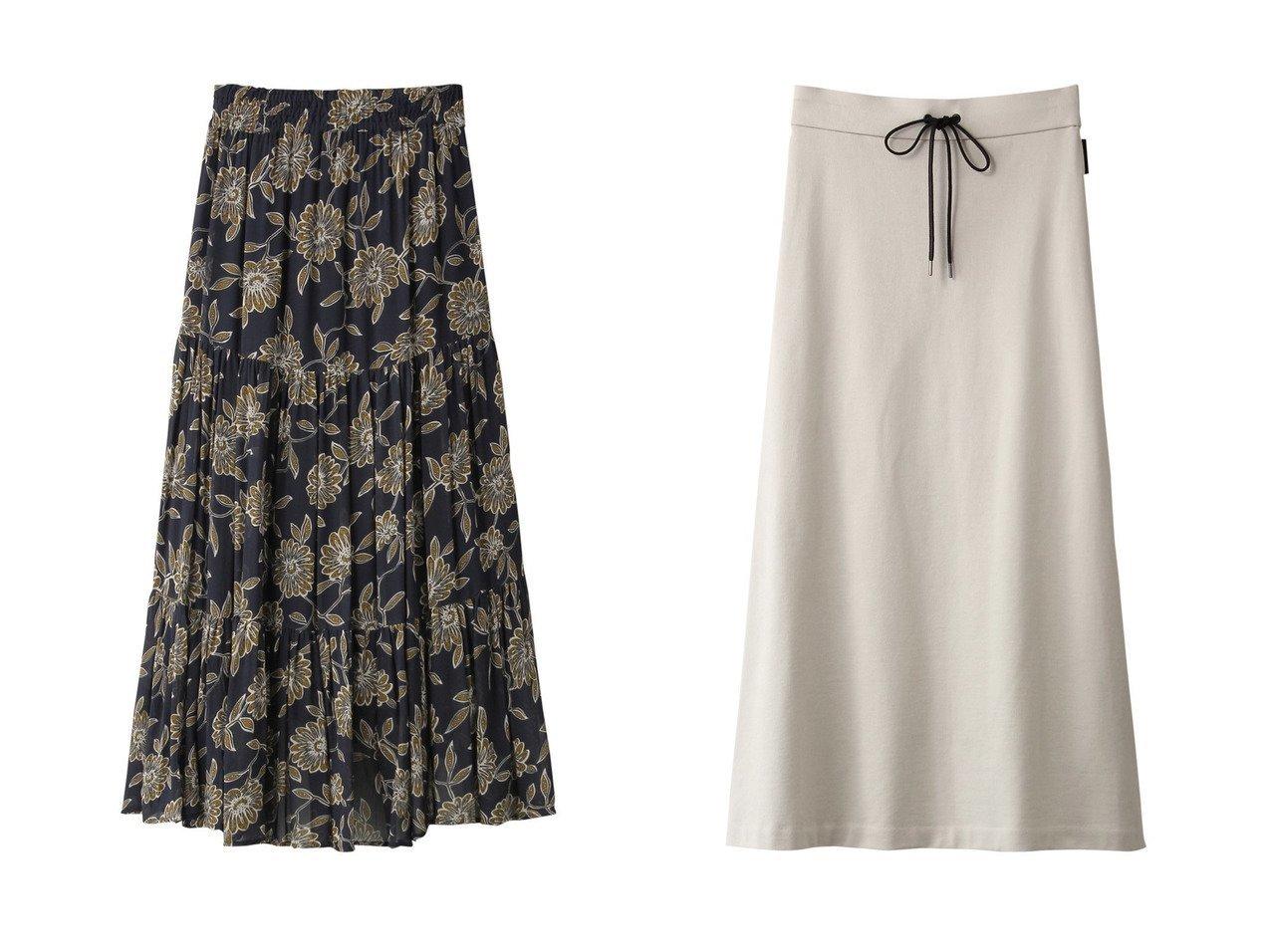 【NE QUITTEZ PAS/ヌキテパ】のレーヨンフラワープリントタイアードスカート&【ADORE/アドーア】のブラッシュドスウェットスカート スカートのおすすめ!人気、レディースファッションの通販 おすすめで人気のファッション通販商品 インテリア・家具・キッズファッション・メンズファッション・レディースファッション・服の通販 founy(ファニー) https://founy.com/ ファッション Fashion レディース WOMEN スカート Skirt ロングスカート Long Skirt エアリー ティアード フラワー プリント ロング |ID:crp329100000000078