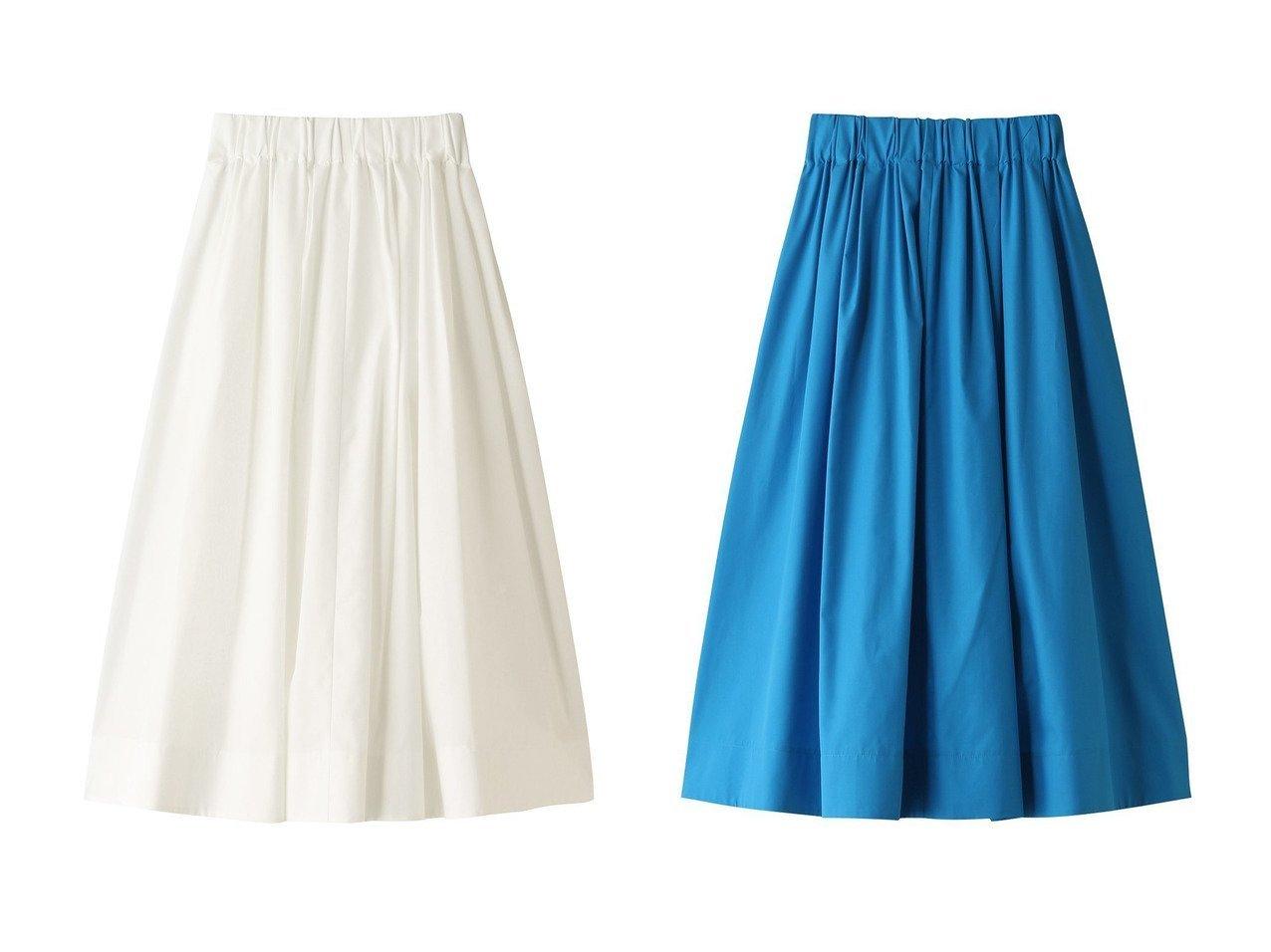 【LE CIEL BLEU/ルシェル ブルー】のコットンギャザースカート スカートのおすすめ!人気、レディースファッションの通販 おすすめで人気のファッション通販商品 インテリア・家具・キッズファッション・メンズファッション・レディースファッション・服の通販 founy(ファニー) https://founy.com/ ファッション Fashion レディース WOMEN スカート Skirt ロングスカート Long Skirt シンプル セットアップ フレア ロング |ID:crp329100000000079