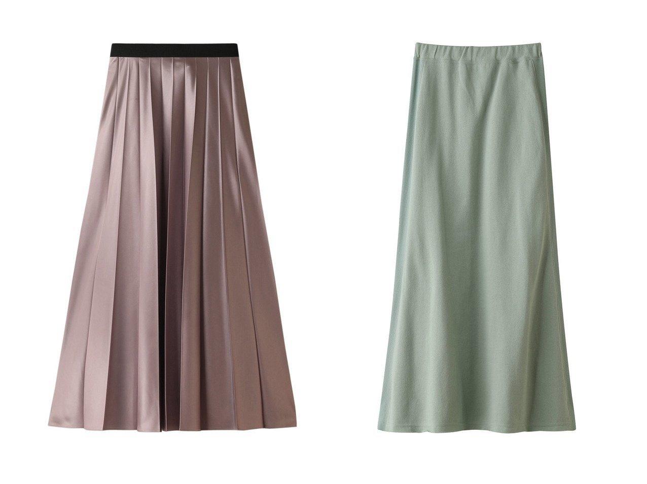 【JET/ジェット】の【JET LOSANGELES】【ウォッシャブル】ウエストゴムスウェットロングスカート&【allureville/アルアバイル】のレザーライクワイドプリーツスカート スカートのおすすめ!人気、レディースファッションの通販  おすすめで人気のファッション通販商品 インテリア・家具・キッズファッション・メンズファッション・レディースファッション・服の通販 founy(ファニー) https://founy.com/ ファッション Fashion レディース WOMEN スカート Skirt プリーツスカート Pleated Skirts ロングスカート Long Skirt シンプル ストレッチ ロング |ID:crp329100000000082