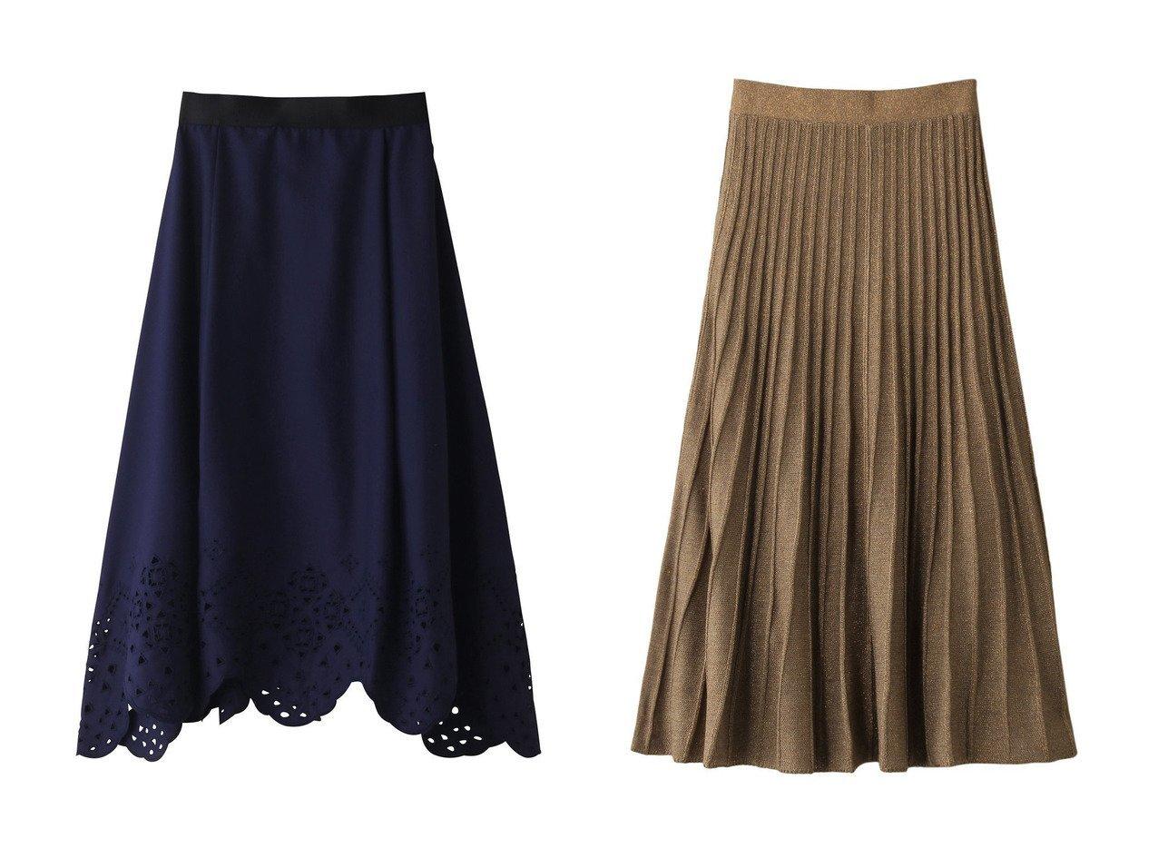 【MARILYN MOON/マリリンムーン】のフレアスカート&【PLAIN PEOPLE/プレインピープル】のクリアツイル刺繍フレアスカート スカートのおすすめ!人気、レディースファッションの通販  おすすめで人気のファッション通販商品 インテリア・家具・キッズファッション・メンズファッション・レディースファッション・服の通販 founy(ファニー) https://founy.com/ ファッション Fashion レディース WOMEN スカート Skirt Aライン/フレアスカート Flared A-Line Skirts ロングスカート Long Skirt フレア ヘムライン ランダム ロング |ID:crp329100000000084