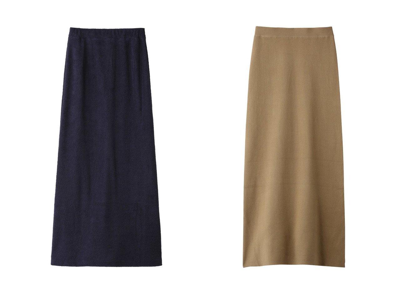 【Curensology/カレンソロジー】のCリブタイトスカート&【THIRD MAGAZINE/サードマガジン】のローゲージパイルスカート スカートのおすすめ!人気、レディースファッションの通販  おすすめで人気のファッション通販商品 インテリア・家具・キッズファッション・メンズファッション・レディースファッション・服の通販 founy(ファニー) https://founy.com/ ファッション Fashion レディース WOMEN スカート Skirt シンプル ベーシック ロング |ID:crp329100000000087