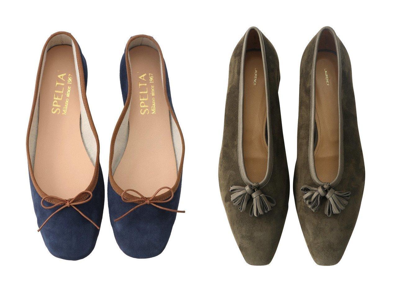 【SPELTA/スペルタ】のSOFIA スエードバイカラーバレエシューズ&【LAURENCE/ロランス】のタッセル付きスエードフラットシューズ シューズ・靴のおすすめ!人気、レディースファッションの通販  おすすめで人気のファッション通販商品 インテリア・家具・キッズファッション・メンズファッション・レディースファッション・服の通販 founy(ファニー) https://founy.com/ ファッション Fashion レディース WOMEN シューズ スエード バレエ フラット タッセル トレンド モチーフ ループ |ID:crp329100000000090