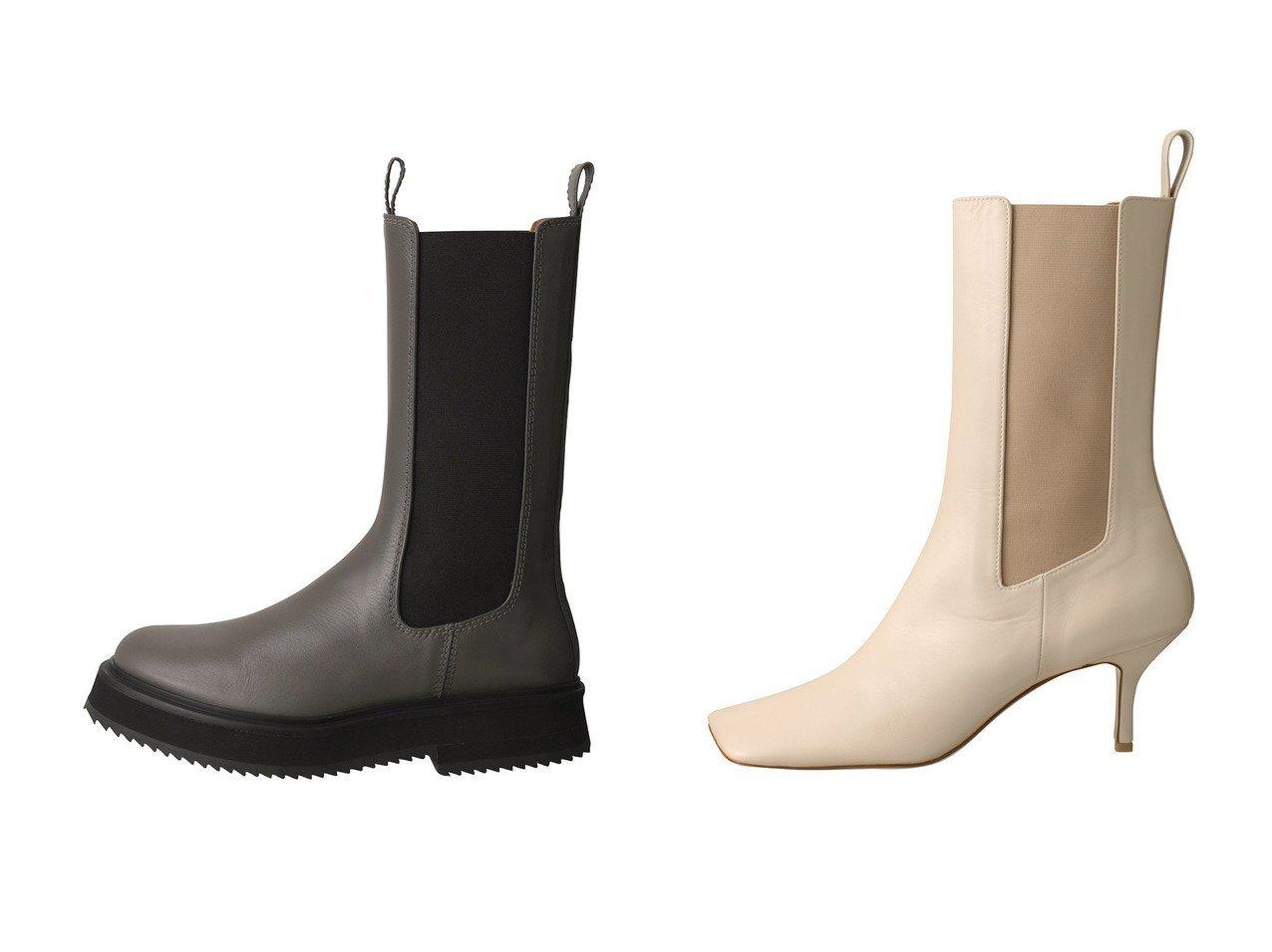 【Pippichic/ピッピシック】のLINDA スクエアトゥサイドゴアブーツ&【JOSEPH/ジョゼフ】のサイドゴアブーツ シューズ・靴のおすすめ!人気、レディースファッションの通販  おすすめで人気のファッション通販商品 インテリア・家具・キッズファッション・メンズファッション・レディースファッション・服の通販 founy(ファニー) https://founy.com/ ファッション Fashion レディース WOMEN スリム ボトム ミドル シンプル 人気 |ID:crp329100000000091