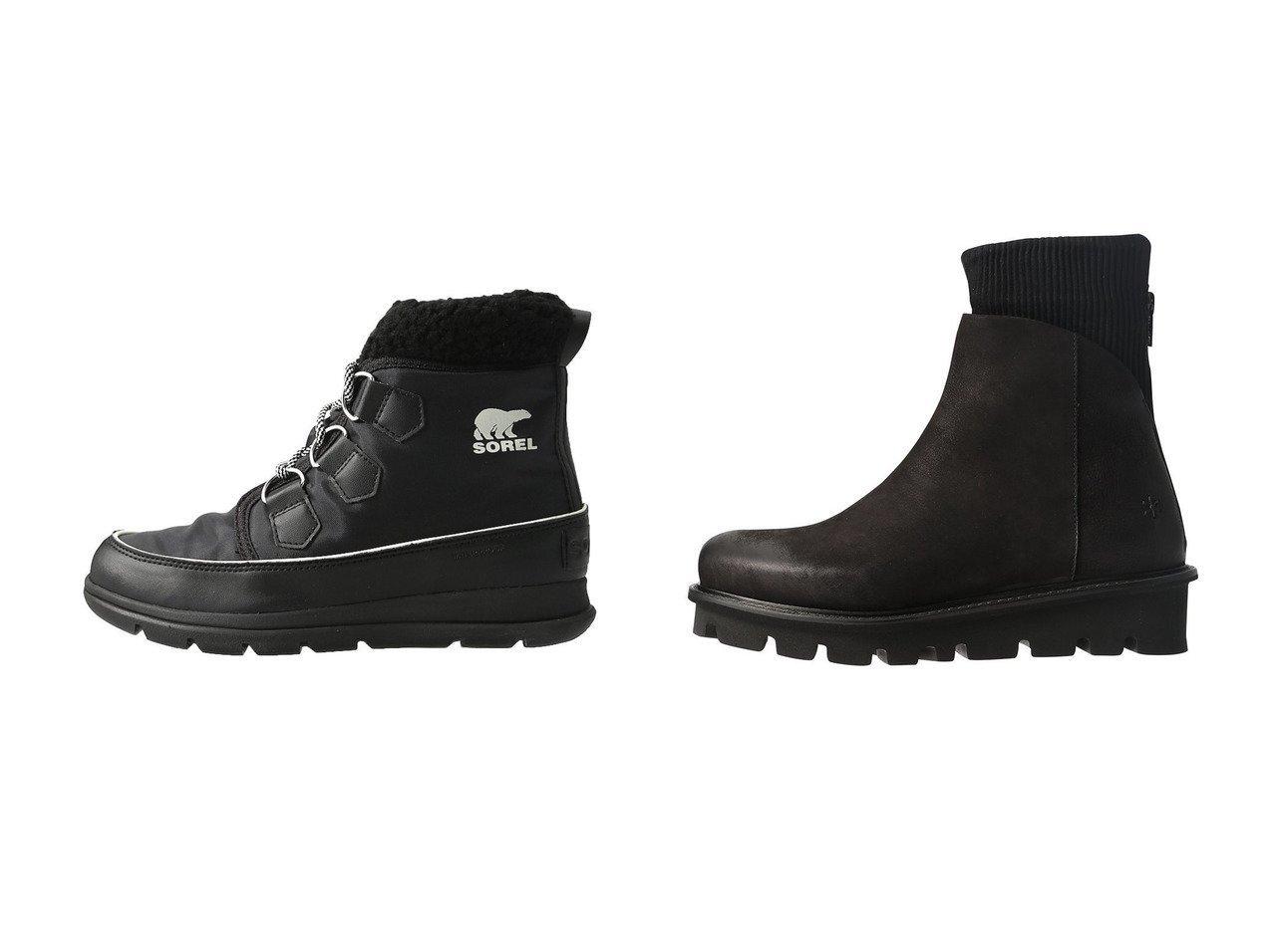 【SOREL/ソレル】のソレルエクスプローラーカーニバル スノーブーツ&【PLAIN PEOPLE/プレインピープル】の【Patrizia Bonfanti】スエードショートブーツ YAYA シューズ・靴のおすすめ!人気、レディースファッションの通販  おすすめで人気のファッション通販商品 インテリア・家具・キッズファッション・メンズファッション・レディースファッション・服の通販 founy(ファニー) https://founy.com/ ファッション Fashion レディース WOMEN ミドル 今季 ショート スエード ドッキング フェミニン 厚底 |ID:crp329100000000094