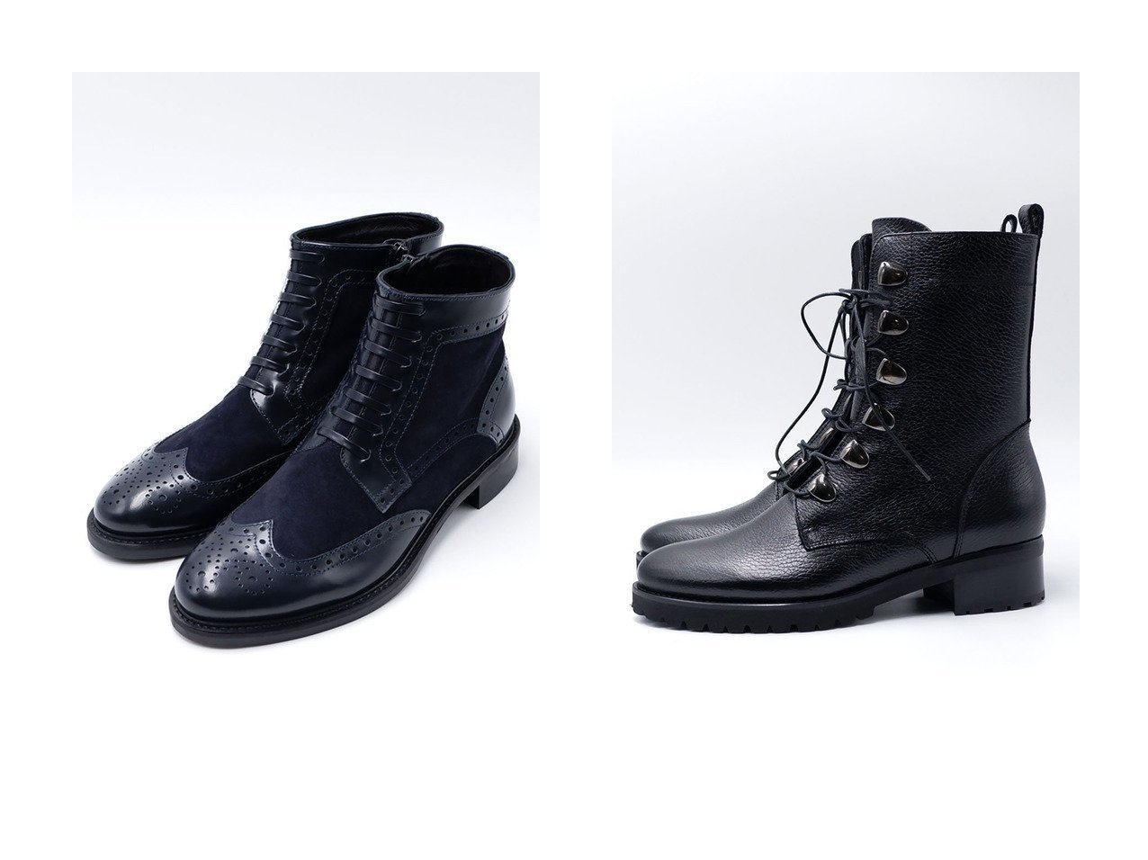 【LucaGrossi/ルカグロッシ】のウィングレースアップブーツ&レースアップブーツ シューズ・靴のおすすめ!人気、レディースファッションの通販  おすすめで人気のファッション通販商品 インテリア・家具・キッズファッション・メンズファッション・レディースファッション・服の通販 founy(ファニー) https://founy.com/ ファッション Fashion レディース WOMEN ウィングチップ コンビ サイドジップ ミドル |ID:crp329100000000095