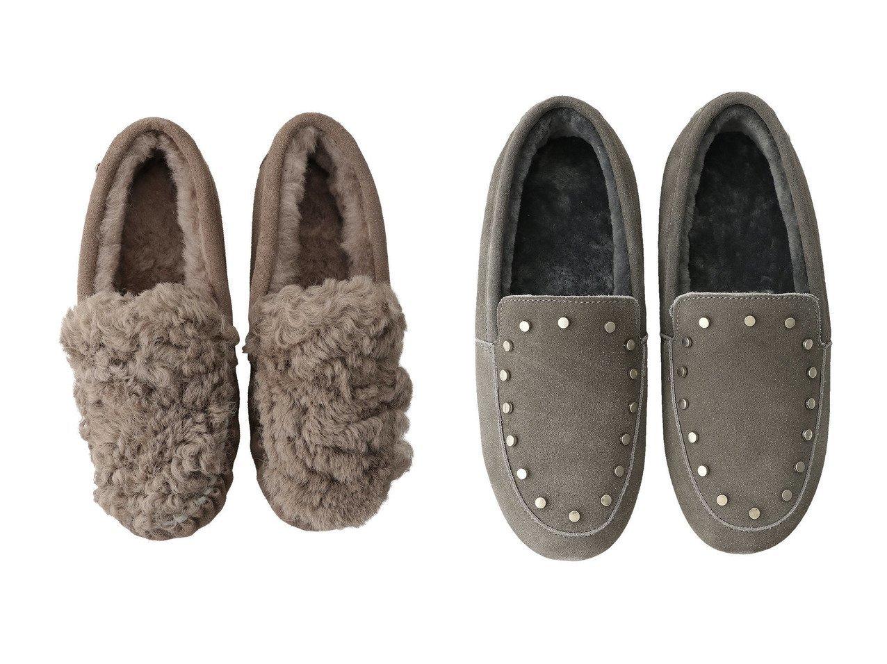 【EMU Australia/エミュ オーストラリア】のCarins Curly Fur モカシン&Crossley スタッズ付きモカシン シューズ・靴のおすすめ!人気、レディースファッションの通販  おすすめで人気のファッション通販商品 インテリア・家具・キッズファッション・メンズファッション・レディースファッション・服の通販 founy(ファニー) https://founy.com/ ファッション Fashion レディース WOMEN シューズ フラット |ID:crp329100000000097