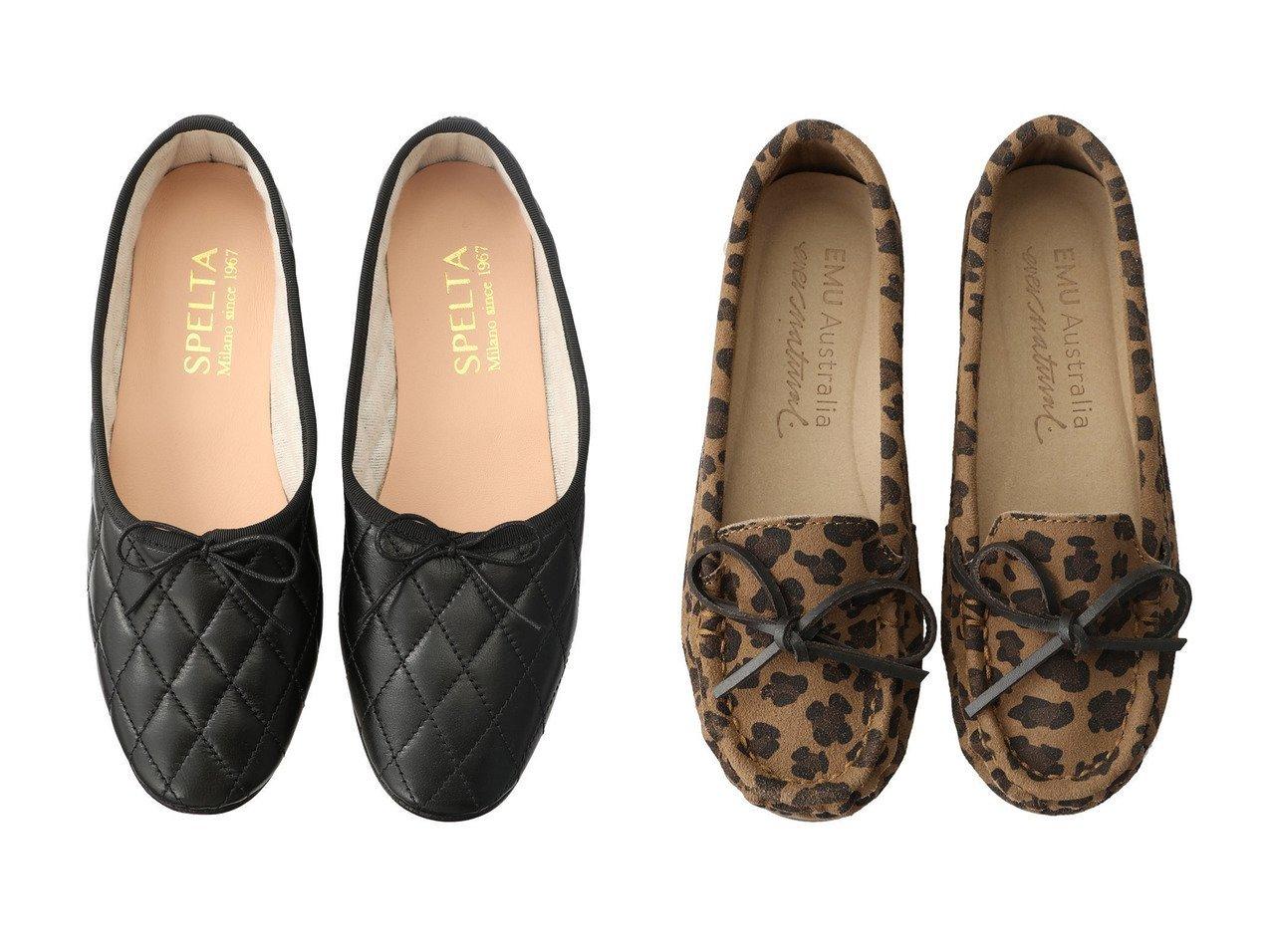 【EMU Australia/エミュ オーストラリア】のOdessa Mini Leo CC モカシン&【SPELTA/スペルタ】のOLGA キルティングバレエシューズ シューズ・靴のおすすめ!人気、レディースファッションの通販  おすすめで人気のファッション通販商品 インテリア・家具・キッズファッション・メンズファッション・レディースファッション・服の通販 founy(ファニー) https://founy.com/ ファッション Fashion レディース WOMEN キルティング シューズ バレエ パーティ フォルム フラット リボン スエード レオパード |ID:crp329100000000098
