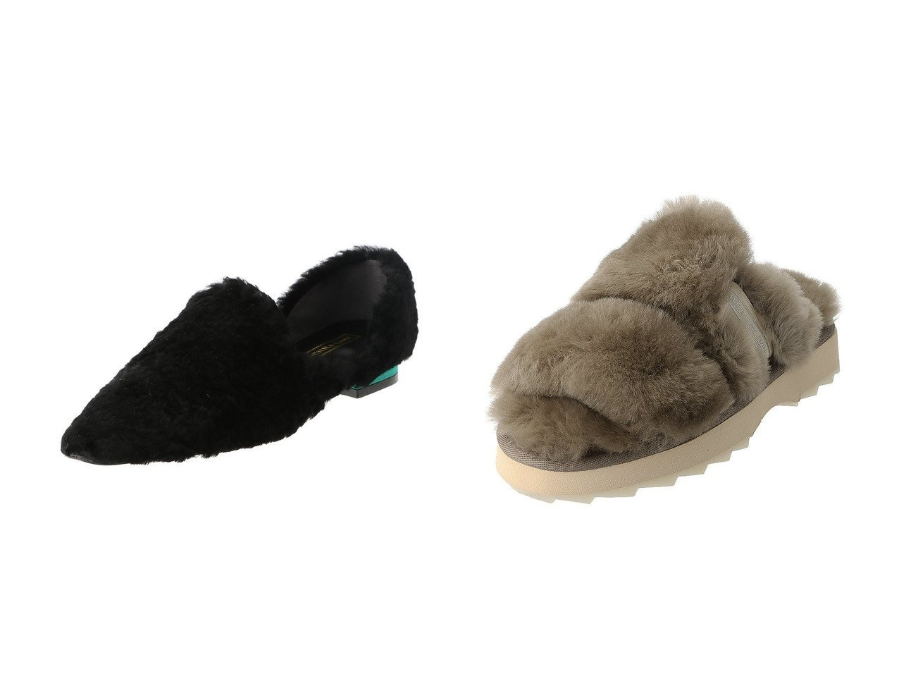 【Daniella & GEMMA/ダニエラ アンド ジェマ】の【AKIKO KIZU × Daniella & GEMMA】ムートンセパレートフラットシューズ&【EMU Australia/エミュ オーストラリア】のWobbegong 厚底シープスキンサンダル シューズ・靴のおすすめ!人気、レディースファッションの通販  おすすめで人気のファッション通販商品 インテリア・家具・キッズファッション・メンズファッション・レディースファッション・服の通販 founy(ファニー) https://founy.com/ ファッション Fashion レディース WOMEN サンダル シンプル 厚底 インソール クッション クール サテン シューズ バランス フラット |ID:crp329100000000100