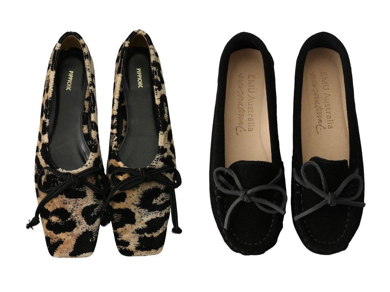 【Pippichic/ピッピシック】の【ELLE SHOP限定】AMBER BALLET ベルベットフラットシューズ&【EMU Australia/エミュ オーストラリア】のOdessa Mini CC モカシン シューズ・靴のおすすめ!人気、レディースファッションの通販  おすすめで人気のファッション通販商品 インテリア・家具・キッズファッション・メンズファッション・レディースファッション・服の通販 founy(ファニー) https://founy.com/ ファッション Fashion レディース WOMEN シューズ シンプル トレンド バレエ フィット フラット リボン レオパード スエード |ID:crp329100000000101