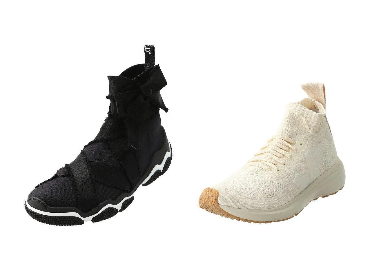 【RED VALENTINO/レッド ヴァレンティノ】のグラムラン スニーカー&【VEJA/ヴェジャ】の【VEJA×Rick Owens】RUNNER STYLE MID スニーカー シューズ・靴のおすすめ!人気、レディースファッションの通販  おすすめで人気のファッション通販商品 インテリア・家具・キッズファッション・メンズファッション・レディースファッション・服の通販 founy(ファニー) https://founy.com/ ファッション Fashion レディース WOMEN スニーカー スポーティ フィット リボン |ID:crp329100000000103