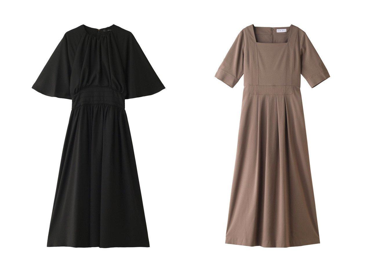 【BAUME/ボーム】のドレープミディドレス&【RIM.ARK/リムアーク】のドレス・ワンピース ワンピース・ドレスのおすすめ!人気、レディースファッションの通販  おすすめで人気のファッション通販商品 インテリア・家具・キッズファッション・メンズファッション・レディースファッション・服の通販 founy(ファニー) https://founy.com/ ファッション Fashion レディース WOMEN ワンピース Dress ドレス Party Dresses エアリー ギャザー ドレープ パーティ フレア デコルテ ドレス ロング  ID:crp329100000000134