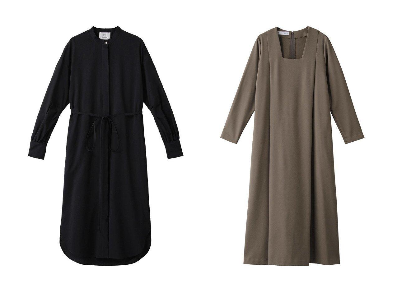 【1er Arrondissement/プルミエ アロンディスモン】のノーカラーロングワンピ-ス&【RIM.ARK/リムアーク】のドレス・ワンピース ワンピース・ドレスのおすすめ!人気、レディースファッションの通販  おすすめで人気のファッション通販商品 インテリア・家具・キッズファッション・メンズファッション・レディースファッション・服の通販 founy(ファニー) https://founy.com/ ファッション Fashion レディース WOMEN ワンピース Dress ドレス Party Dresses なめらか スリーブ ロング  ID:crp329100000000138