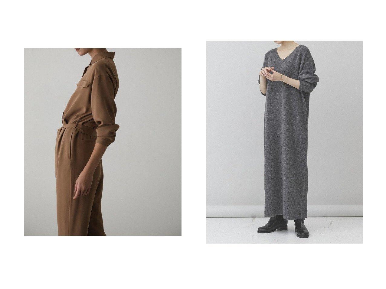 【Curensology/カレンソロジー】のヤクロングニットワンピース&【RIM.ARK/リムアーク】のRelax loose all-in-オールインワン ワンピース・ドレスのおすすめ!人気、レディースファッションの通販  おすすめで人気のファッション通販商品 インテリア・家具・キッズファッション・メンズファッション・レディースファッション・服の通販 founy(ファニー) https://founy.com/ ファッション Fashion レディース WOMEN ワンピース Dress オールインワン ワンピース All In One Dress ニットワンピース Knit Dresses アクセサリー インナー サテン タートルネック ラグジュアリー マキシ ロング 防寒  ID:crp329100000000141