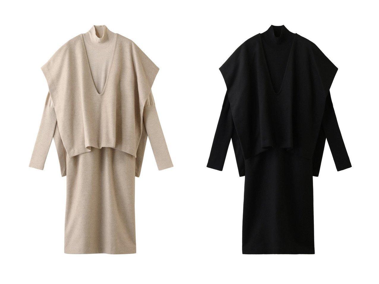 【RIM.ARK/リムアーク】のドレス ワンピース・ドレスのおすすめ!人気、レディースファッションの通販  おすすめで人気のファッション通販商品 インテリア・家具・キッズファッション・メンズファッション・レディースファッション・服の通販 founy(ファニー) https://founy.com/ ファッション Fashion レディース WOMEN ワンピース Dress ドレス Party Dresses カシミヤ ドレス メルトン ロング  ID:crp329100000000142