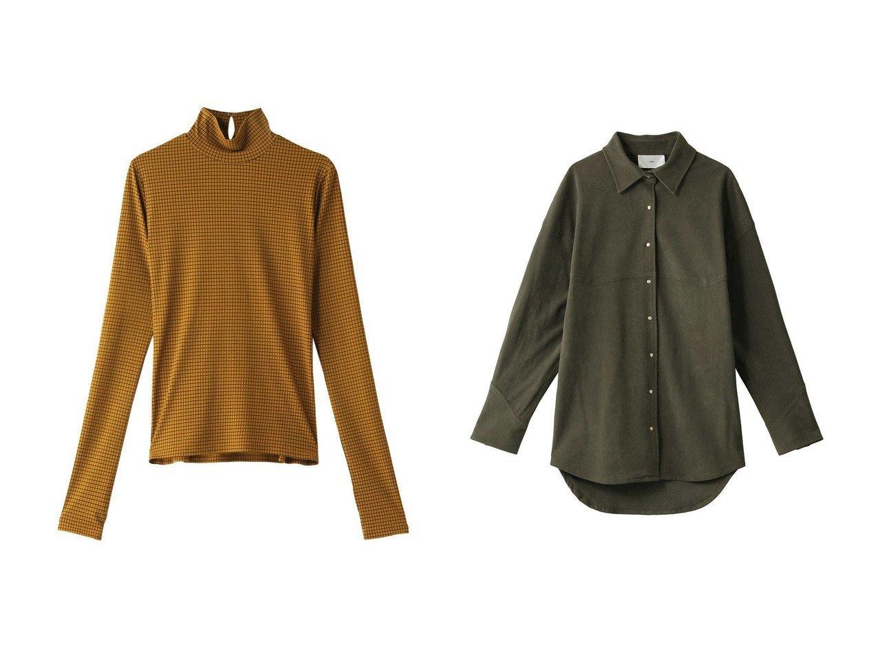 【LE CIEL BLEU/ルシェル ブルー】のチェックジャージタートルネックトップ&【TICCA/ティッカ】の【SMUK】ウエスタンシャツ トップスのおすすめ!人気、レディースファッションの通販  おすすめで人気のファッション通販商品 インテリア・家具・キッズファッション・メンズファッション・レディースファッション・服の通販 founy(ファニー) https://founy.com/ ファッション Fashion レディース WOMEN トップス Tops Tshirt シャツ/ブラウス Shirts Blouses カットソー Cut and Sewn タートルネック Turtleneck スリット スリーブ チェック ハイネック ロング ウエスタン ベーシック ボトム 今季 羽織 |ID:crp329100000000151