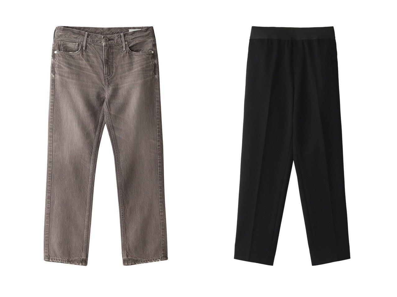 【upper hights/アッパー ハイツ】のTHE LIPSTICK ミッドライズスリムストレートデニム&【M Fil/エムフィル】のポンチテーパードクロップドイージーパンツ パンツのおすすめ!人気、レディースファッションの通販 おすすめで人気のファッション通販商品 インテリア・家具・キッズファッション・メンズファッション・レディースファッション・服の通販 founy(ファニー) https://founy.com/ ファッション Fashion レディース WOMEN パンツ Pants デニムパンツ Denim Pants シンプル ストレート デニム |ID:crp329100000000160