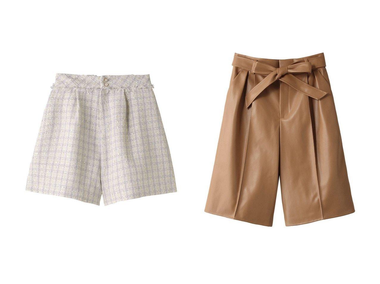 【31 Sons de mode/トランテアン ソン ドゥ モード】のツイードショートパンツ&【ANAYI/アナイ】のフェイクレザーショートパンツ パンツのおすすめ!人気、レディースファッションの通販 おすすめで人気のファッション通販商品 インテリア・家具・キッズファッション・メンズファッション・レディースファッション・服の通販 founy(ファニー) https://founy.com/ ファッション Fashion レディース WOMEN パンツ Pants ハーフ / ショートパンツ Short Pants カットソー ショート チェスターコート トレーナー フロント ブルゾン ロング 秋 シンプル フェイクレザー |ID:crp329100000000170