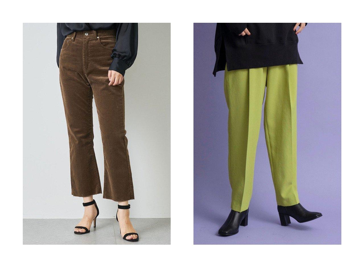 【Whim Gazette/ウィムガゼット】のストレッチコールパンツ&【MAISON SPECIAL/メゾンスペシャル】のカラーワンタックテーパードパンツ パンツのおすすめ!人気、レディースファッションの通販 おすすめで人気のファッション通販商品 インテリア・家具・キッズファッション・メンズファッション・レディースファッション・服の通販 founy(ファニー) https://founy.com/ ファッション Fashion レディース WOMEN パンツ Pants クロップド コーデュロイ ストレッチ フレア フィット フォルム |ID:crp329100000000204