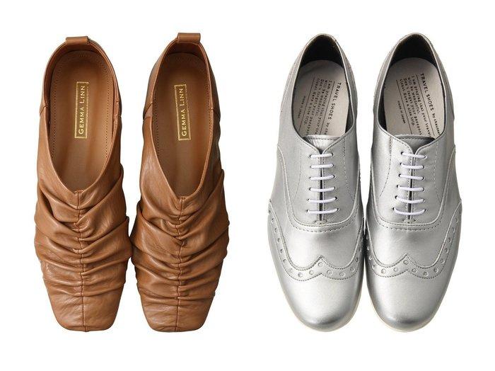 【Daniella & GEMMA/ダニエラ アンド ジェマ】の【レイン対応】ギャザーフラットシューズ&【chausser/ショセ】の【TRAVEL SHOES by chausser】ウィングチップレースアップシューズ(レイン対応) シューズ・靴のおすすめ!人気、レディースファッションの通販  おすすめファッション通販アイテム インテリア・キッズ・メンズ・レディースファッション・服の通販 founy(ファニー) https://founy.com/ ファッション Fashion レディース WOMEN ギャザー シューズ ドレープ フェイクレザー フラット レイン |ID:crp329100000000370