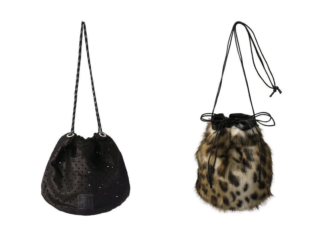 【The Virgnia/ザ ヴァージニア】の【HELEN MOORE】レオパードファー巾着バッグ&【sisii/シシ】のパンチングレザードローストリングバッグ バッグのおすすめ!人気、レディースファッションの通販  おすすめで人気のファッション通販商品 インテリア・家具・キッズファッション・メンズファッション・レディースファッション・服の通販 founy(ファニー) https://founy.com/ ファッション Fashion レディース WOMEN バッグ Bag スポーティ トレンド アニマル インナー キルティング ハンドバッグ フェイクファー 巾着  ID:crp329100000000388