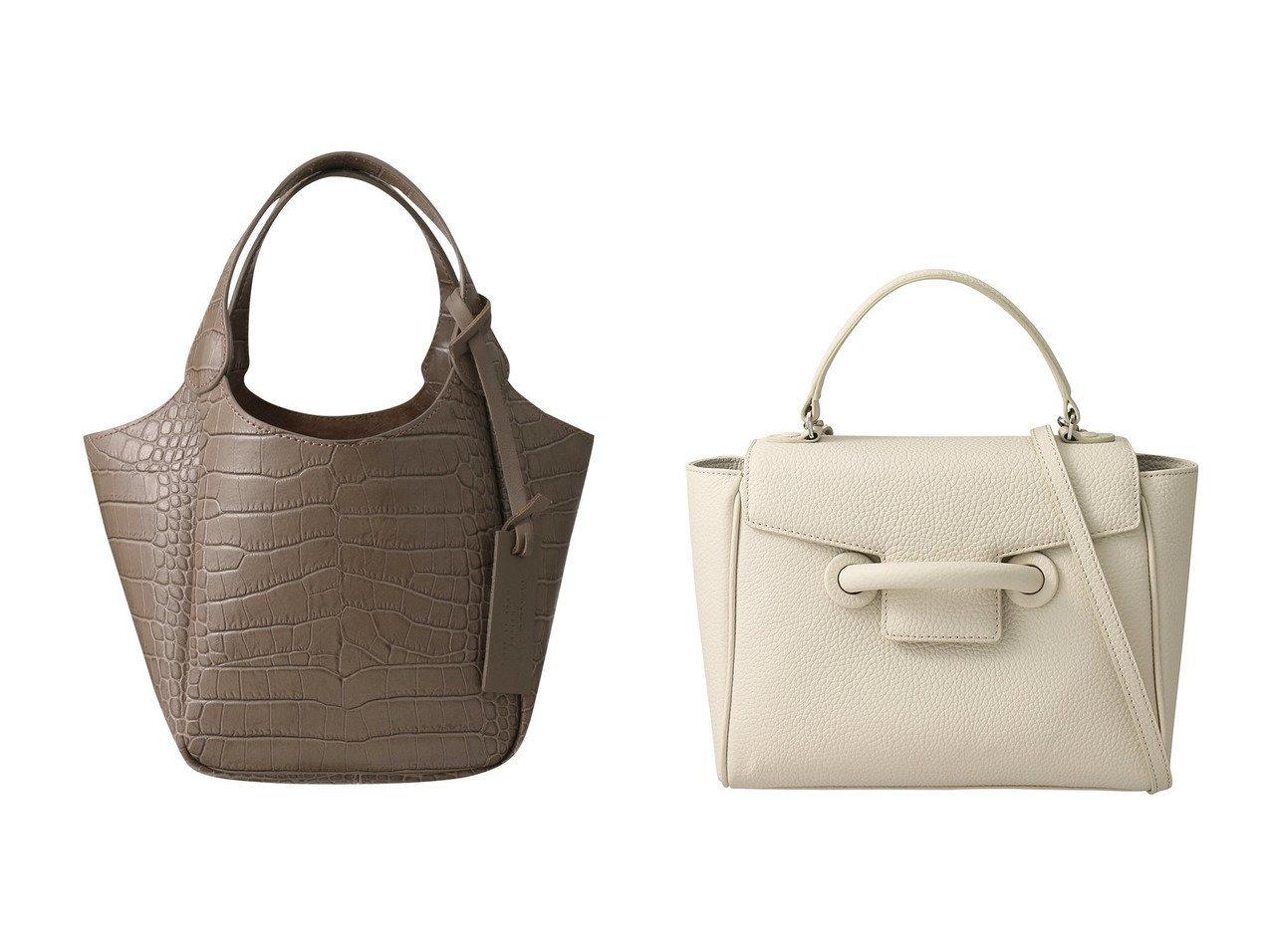 【VASIC/ヴァジック】のEver Mini 2wayハンドバッグ&【MARCO MASI/マルコマージ】のクロコ型押しミニトートバッグ バッグのおすすめ!人気、レディースファッションの通販  おすすめで人気のファッション通販商品 インテリア・家具・キッズファッション・メンズファッション・レディースファッション・服の通販 founy(ファニー) https://founy.com/ ファッション Fashion レディース WOMEN バッグ Bag クロコ ハンドバッグ フォルム 春 |ID:crp329100000000407