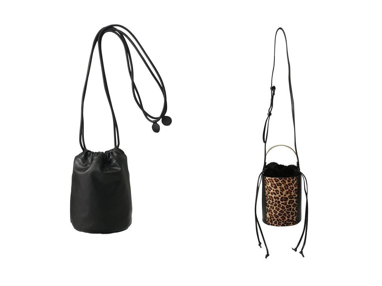 【MM6 Maison Martin Margiela/エムエム6 メゾン マルタン マルジェラ】のシンセティックレザーバケットバッグ&【Ezick/エジック】のスタッズバケツバック バッグのおすすめ!人気、レディースファッションの通販  おすすめで人気のファッション通販商品 インテリア・家具・キッズファッション・メンズファッション・レディースファッション・服の通販 founy(ファニー) https://founy.com/ ファッション Fashion レディース WOMEN バッグ Bag ショルダー シンプル フォルム スタッズ ハンドバッグ バケツ フェイクファー ベーシック レオパード 巾着 |ID:crp329100000000437