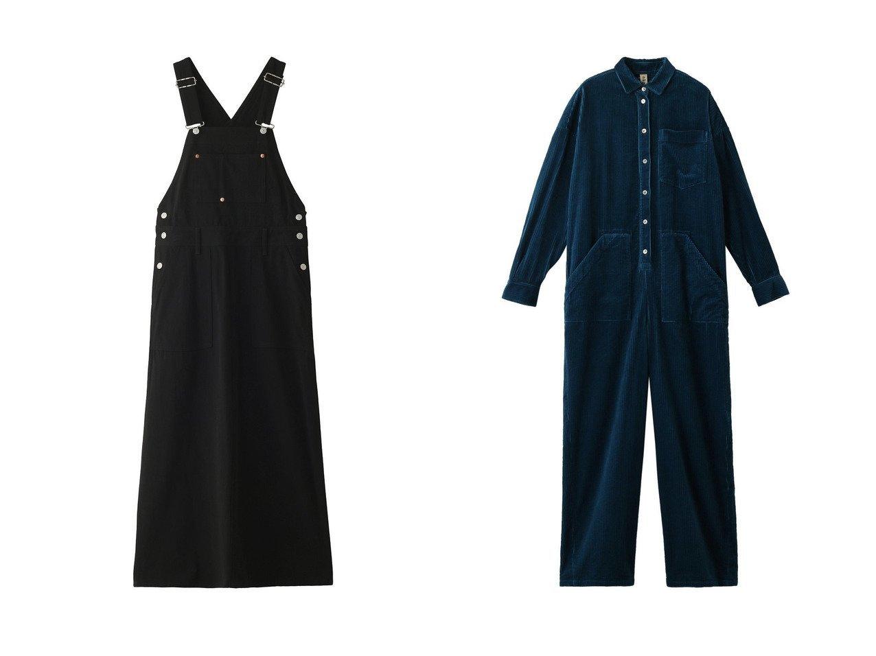【Shinzone/シンゾーン】のチノジャンプスーツ&【nagonstans/ナゴンスタンス】のコーデュロイ SHジャンプスーツ ワンピース・ドレスのおすすめ!人気、レディースファッションの通販  おすすめで人気のファッション通販商品 インテリア・家具・キッズファッション・メンズファッション・レディースファッション・服の通販 founy(ファニー) https://founy.com/ ファッション Fashion レディース WOMEN ワンピース Dress オールインワン ワンピース All In One Dress カットソー スーツ リブニット ロング コーデュロイ シンプル |ID:crp329100000000623