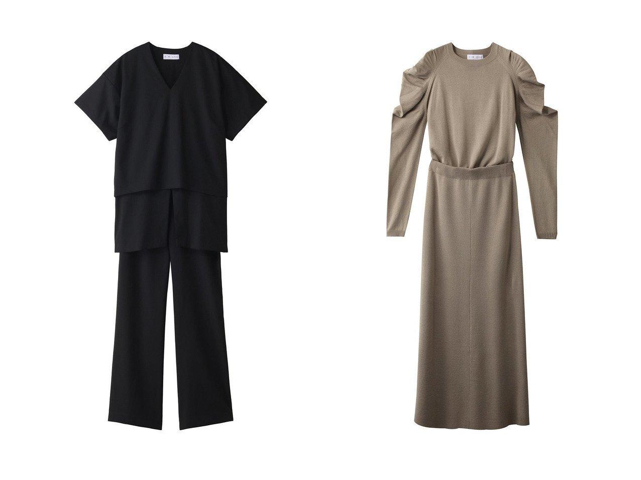 【RIM.ARK/リムアーク】のRound silhouette set up【セットアップ商品】&セットアップ ワンピース・ドレスのおすすめ!人気、レディースファッションの通販  おすすめで人気のファッション通販商品 インテリア・家具・キッズファッション・メンズファッション・レディースファッション・服の通販 founy(ファニー) https://founy.com/ ファッション Fashion レディース WOMEN トップス Tops Tshirt ニット Knit Tops プルオーバー Pullover セットアップ フランス ギャザー ロング  ID:crp329100000000698