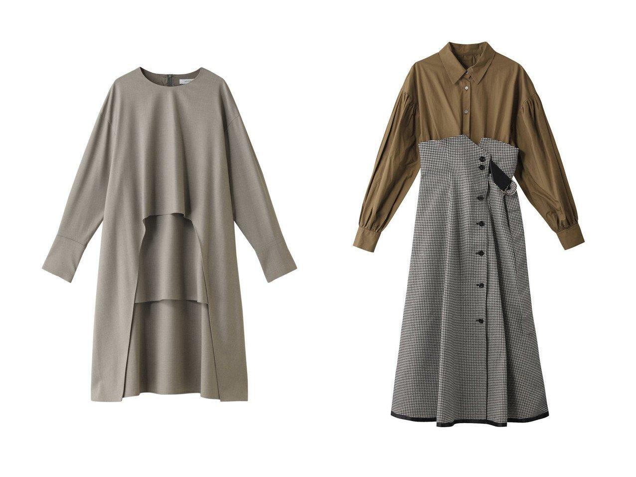 【ADORE/アドーア】のクリアライトロングブラウス&【The Virgnia/ザ ヴァージニア】のタスランモールドッキングワンピース ワンピース・ドレスのおすすめ!人気、レディースファッションの通販  おすすめで人気のファッション通販商品 インテリア・家具・キッズファッション・メンズファッション・レディースファッション・服の通販 founy(ファニー) https://founy.com/ ファッション Fashion レディース WOMEN トップス Tops Tshirt シャツ/ブラウス Shirts Blouses ワンピース Dress なめらか ストレッチ スリーブ セットアップ トレンド ヘムライン ロング ワイド クラシカル コルセット ドッキング ヘリンボーン  ID:crp329100000000700