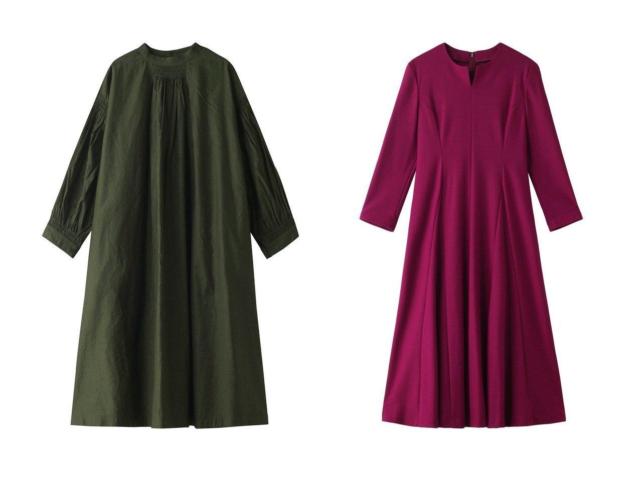 【nest Robe/ネストローブ】のサフィラン2WAYワンピース&【ANAYI/アナイ】のスムースフレアワンピース ワンピース・ドレスのおすすめ!人気、レディースファッションの通販  おすすめで人気のファッション通販商品 インテリア・家具・キッズファッション・メンズファッション・レディースファッション・服の通販 founy(ファニー) https://founy.com/ ファッション Fashion レディース WOMEN ワンピース Dress クラシカル リネン ロング  ID:crp329100000000701