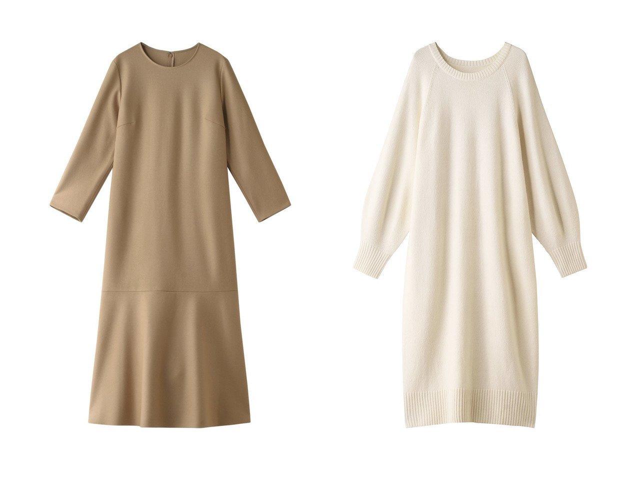 【PLAIN PEOPLE/プレインピープル】のホールガーメントニットワンピース&スーパー140sヘビーメルトンワンピース ワンピース・ドレスのおすすめ!人気、レディースファッションの通販  おすすめで人気のファッション通販商品 インテリア・家具・キッズファッション・メンズファッション・レディースファッション・服の通販 founy(ファニー) https://founy.com/ ファッション Fashion レディース WOMEN ワンピース Dress ニットワンピース Knit Dresses なめらか シンプル フェミニン メルトン ロング 今季 ホールガーメント リラックス  ID:crp329100000000709