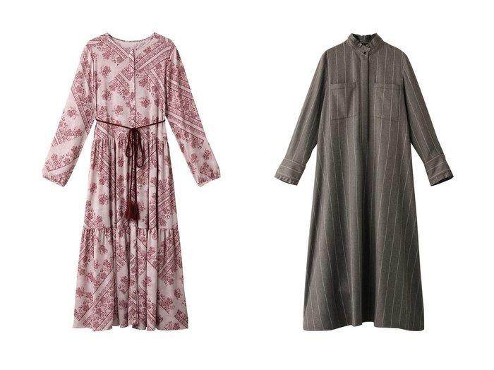 【The Virgnia/ザ ヴァージニア】のミュルーズパネル柄ワンピース&【ebure/エブール】のワイドストライプフランネル シャツワンピース ワンピース・ドレスのおすすめ!人気、レディースファッションの通販  おすすめファッション通販アイテム レディースファッション・服の通販 founy(ファニー) ファッション Fashion レディース WOMEN ワンピース Dress トップス Tops Tshirt シャツ/ブラウス Shirts Blouses シャツワンピース Shirt Dresses クラシカル コレクション ティアードワンピース フィット フランス フレア プリント ペイズリー モチーフ ロマンティック ロング |ID:crp329100000000725