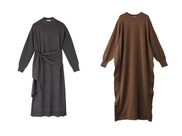 【CLANE/クラネ】のニットワンピース&【ETRE TOKYO/エトレトウキョウ】のウエストマークニットワンピース ワンピース・ドレスのおすすめ!人気、レディースファッションの通販  おすすめファッション通販アイテム インテリア・キッズ・メンズ・レディースファッション・服の通販 founy(ファニー) https://founy.com/ ファッション Fashion レディース WOMEN ワンピース Dress ニットワンピース Knit Dresses スリット ミックス ロング |ID:crp329100000000738