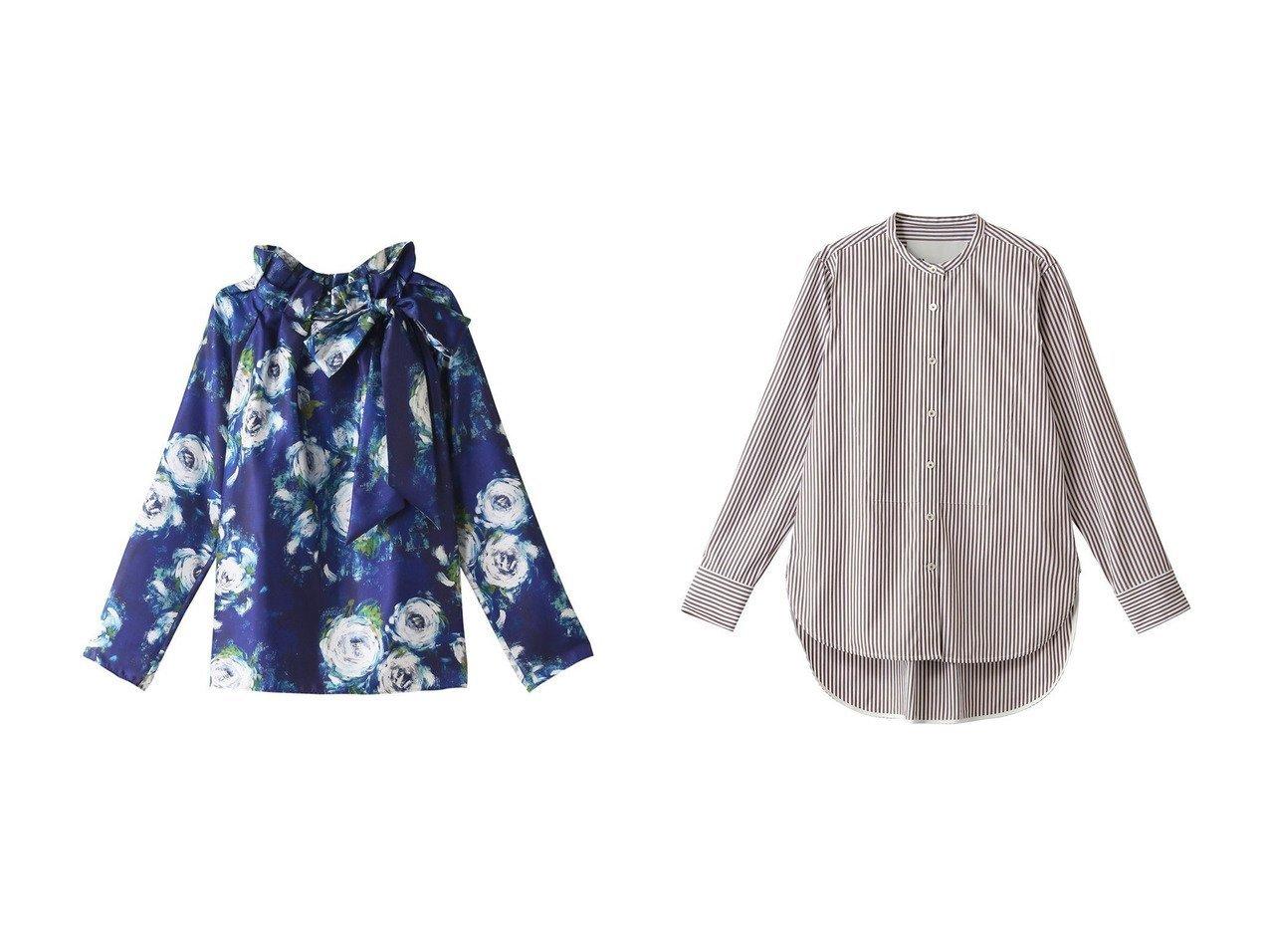 【TICCA/ティッカ】のビブヨークシャツ&【M Fil/エムフィル】の油彩フラワープリントタックボウタイブラウス トップス・カットソーのおすすめ!人気、レディースファッションの通販 おすすめで人気のファッション通販商品 インテリア・家具・キッズファッション・メンズファッション・レディースファッション・服の通販 founy(ファニー) https://founy.com/ ファッション Fashion レディース WOMEN トップス Tops Tshirt シャツ/ブラウス Shirts Blouses 花柄・フラワープリント・モチーフ Flower Patterns スリーブ フラワー プリント ロング 秋冬 A/W Autumn/ Winter クラシック ストライプ 人気 定番 |ID:crp329100000000761