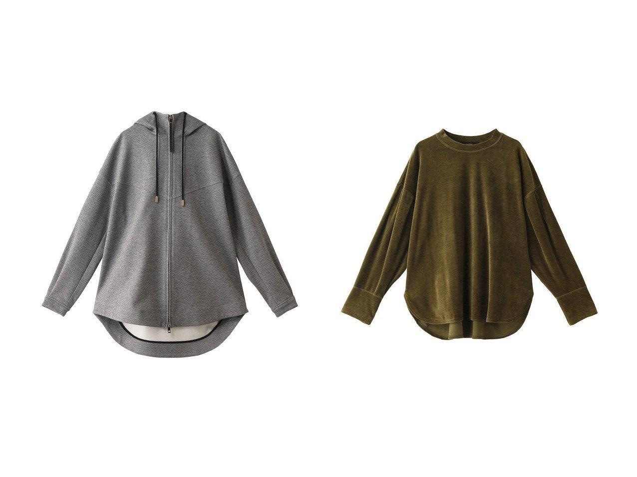 【THE RERACS/ザ リラクス】のVパネルフルジップフーディー&【FLORENT/フローレント】のCOTTONベロアプルオーバー トップス・カットソーのおすすめ!人気、レディースファッションの通販 おすすめで人気のファッション通販商品 インテリア・家具・キッズファッション・メンズファッション・レディースファッション・服の通販 founy(ファニー) https://founy.com/ ファッション Fashion レディース WOMEN トップス Tops Tshirt シャツ/ブラウス Shirts Blouses パーカ Sweats スウェット Sweat カットソー Cut and Sewn プルオーバー Pullover ベロア Velour スタイリッシュ ロング 羽織 ショルダー スリーブ デニム ドロップ フェミニン フレア ベロア ミックス |ID:crp329100000000764