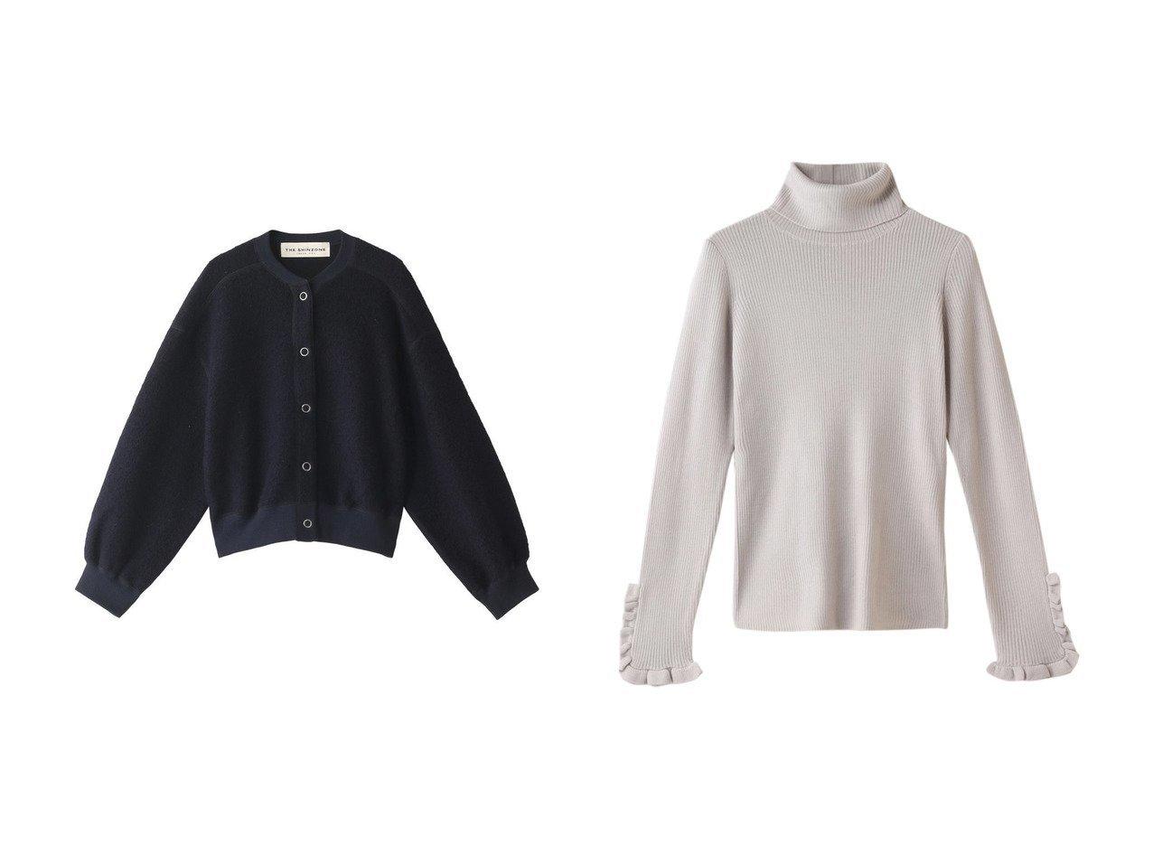 【Shinzone/シンゾーン】のフリースケープリンカーディガン&【LANVIN en Bleu/ランバン オン ブルー】のフリルスリーブタートルニット トップス・カットソーのおすすめ!人気、レディースファッションの通販 おすすめで人気のファッション通販商品 インテリア・家具・キッズファッション・メンズファッション・レディースファッション・服の通販 founy(ファニー) https://founy.com/ ファッション Fashion レディース WOMEN トップス Tops Tshirt ニット Knit Tops カーディガン Cardigans プルオーバー Pullover カーディガン スリーブ バランス 冬 Winter 羽織 防寒 シンプル フリル リボン |ID:crp329100000000772