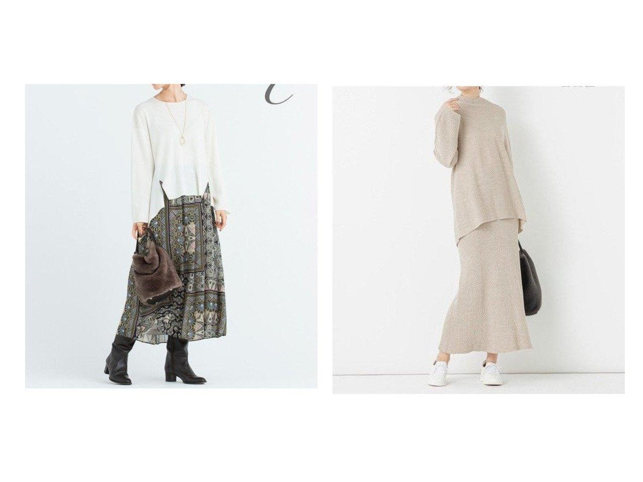 【JIYU-KU/自由区】の【UNFILO】RICH WOOL BLEND ニット スカート&【Class Lounge】PARISIAN FLOORS スカート スカートのおすすめ!人気、レディースファッションの通販 おすすめで人気のファッション通販商品 インテリア・家具・キッズファッション・メンズファッション・レディースファッション・服の通販 founy(ファニー) https://founy.com/ ファッション Fashion レディース WOMEN スカート Skirt 秋冬 A/W Autumn/ Winter インド コレクション シフォン パウダー フォルム ロング 冬 Winter アクリル セットアップ フィット フレア  ID:crp329100000000982