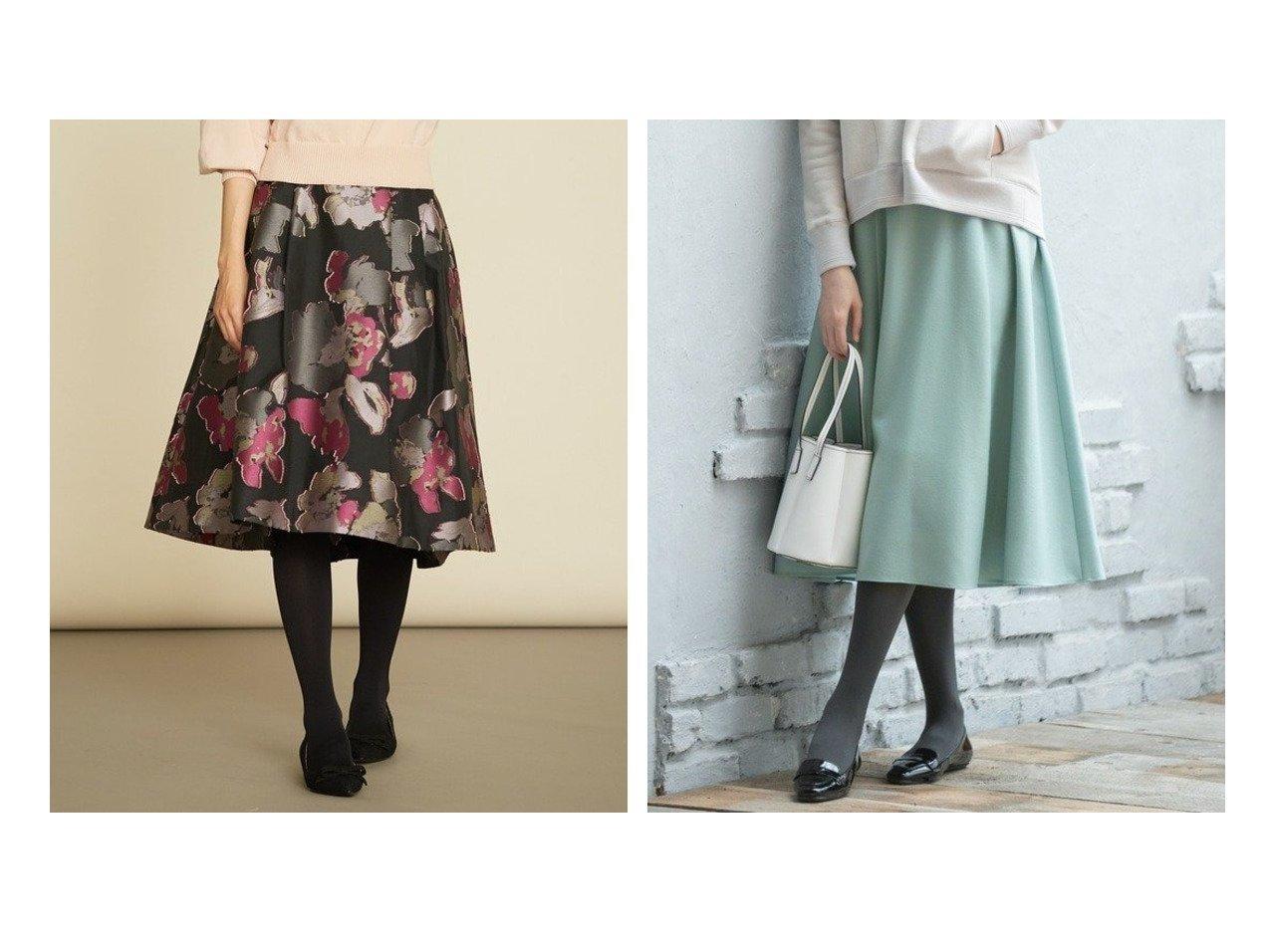 【KUMIKYOKU/組曲】のウールソフトジョーゼット フレアスカート&【Rythme KUMIKYOKU】フラワージャガード フレアスカート スカートのおすすめ!人気、レディースファッションの通販 おすすめで人気のファッション通販商品 インテリア・家具・キッズファッション・メンズファッション・レディースファッション・服の通販 founy(ファニー) https://founy.com/ ファッション Fashion レディース WOMEN スカート Skirt Aライン/フレアスカート Flared A-Line Skirts オケージョン コレクション ジャカード フォルム フレア フレアースカート ヘムライン 秋冬 A/W Autumn/ Winter  ID:crp329100000000983