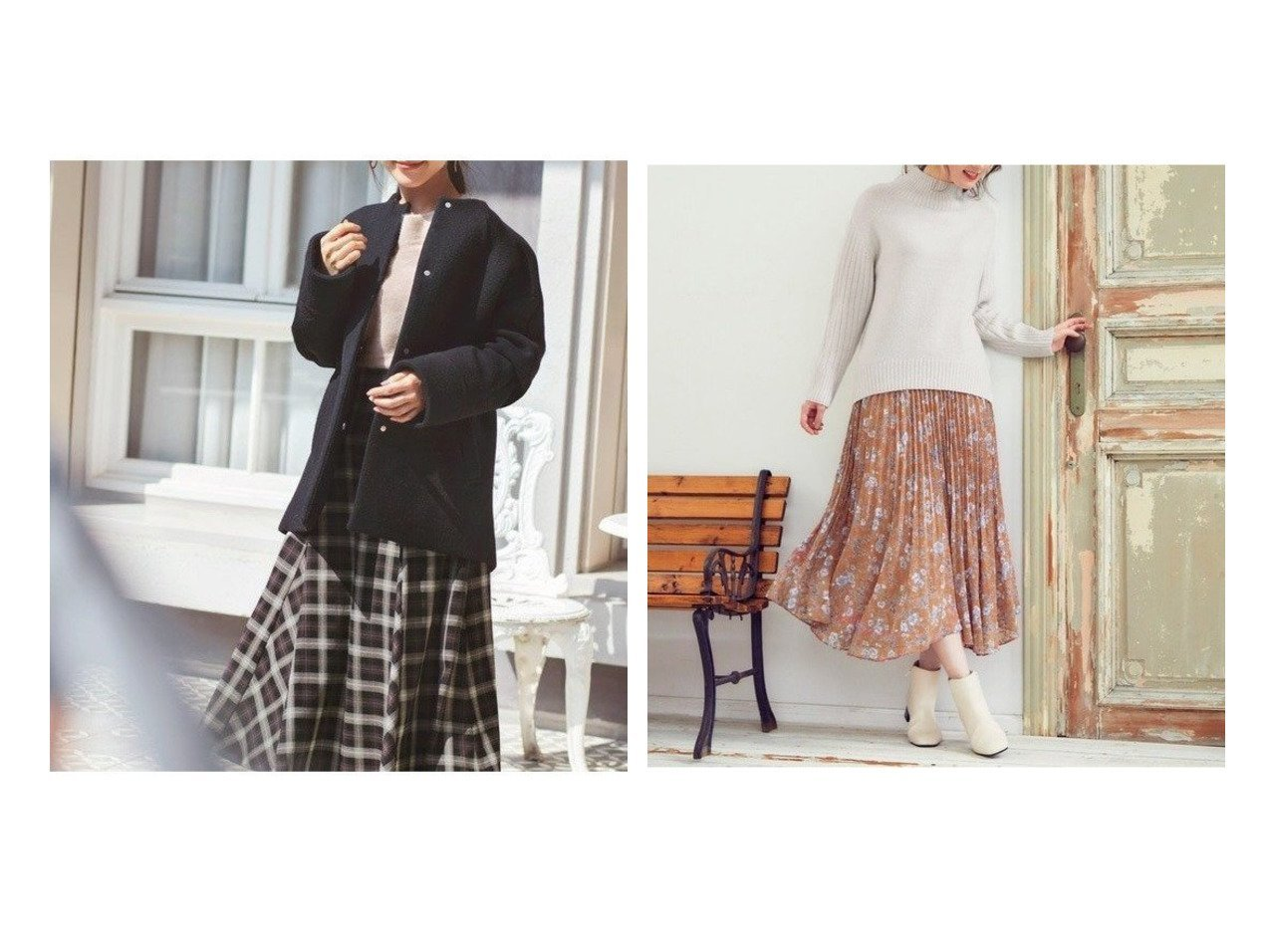 【Feroux/フェルゥ】の【洗える】シェードmixフラワー スカート&【any SiS/エニィ スィス】の【洗える】フレアチェック/ツイード スカート スカートのおすすめ!人気、レディースファッションの通販 おすすめで人気のファッション通販商品 インテリア・家具・キッズファッション・メンズファッション・レディースファッション・服の通販 founy(ファニー) https://founy.com/ ファッション Fashion レディース WOMEN スカート Skirt クラシカル チェック ツイード バランス フレア ミックス モノトーン 秋 カットジャガード カットソー トレンド フラワー プリント プリーツ 冬 Winter  ID:crp329100000000991