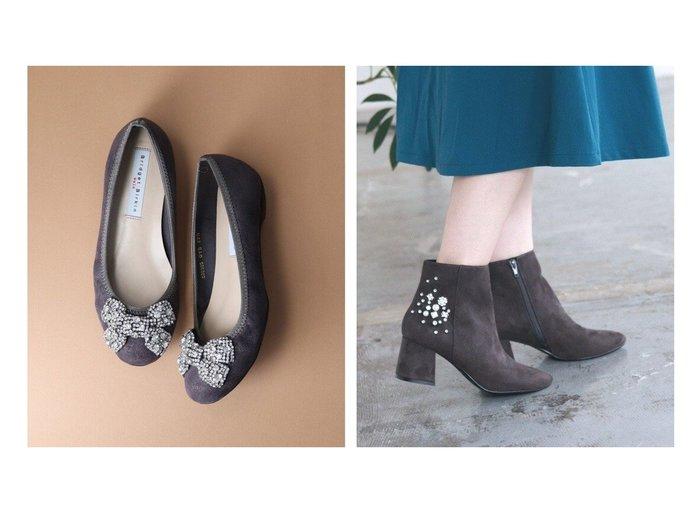 【Bridget Birkin/ブリジット バーキン】の【Bridget Birkin Walk】ダイヤビジューリボンウォーキングバレエパンプス&【Bridget Birkin】かかとビジューパールショートブーツ シューズ・靴のおすすめ!人気、レディースファッションの通販 おすすめファッション通販アイテム レディースファッション・服の通販 founy(ファニー) ファッション Fashion レディース WOMEN シューズ フィット リボン クッション ショート バランス パール ビジュー ボトム ミモレ ロング |ID:crp329100000000995