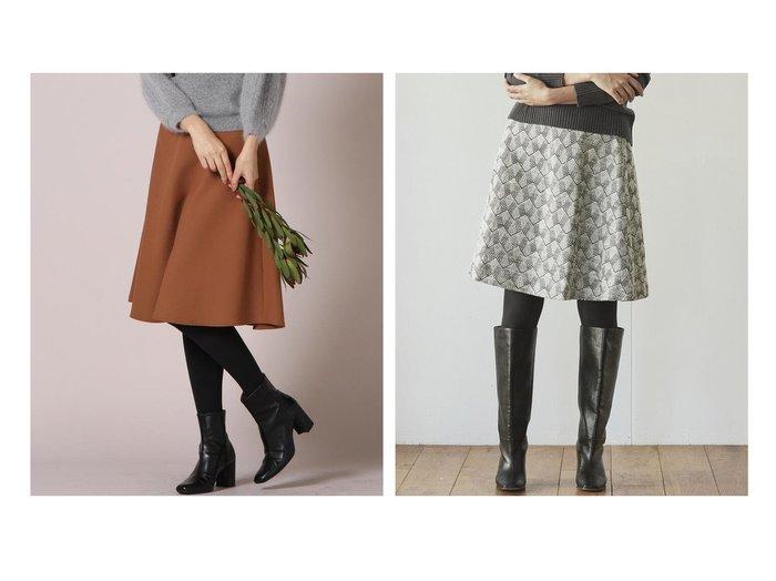 【Ketty/ケティ】の幾何柄ジャガードスカート&TRトロフレアスカート スカートのおすすめ!人気、レディースファッションの通販 おすすめファッション通販アイテム レディースファッション・服の通販 founy(ファニー) ファッション Fashion レディース WOMEN スカート Skirt Aライン/フレアスカート Flared A-Line Skirts フレア  ID:crp329100000001154