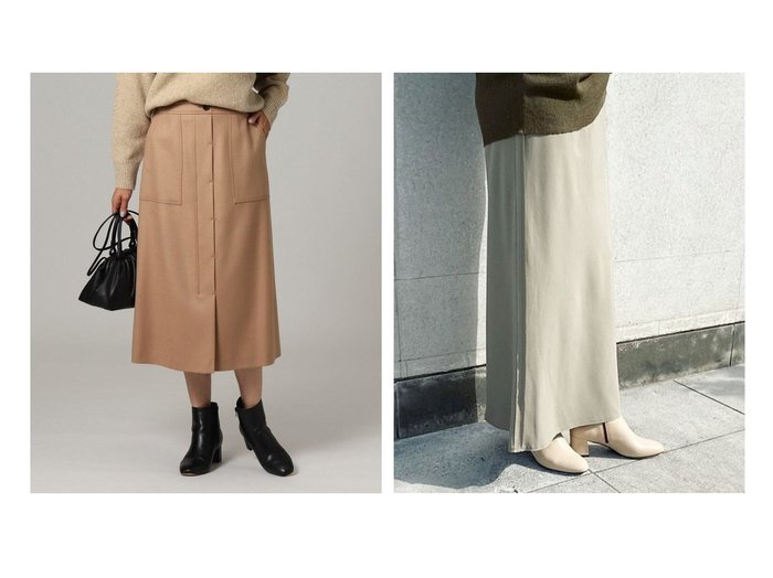 【UNTITLED/アンタイトル】のリッチボタニーAラインスカート&【Plage/プラージュ】のバックサテンスカート スカートのおすすめ!人気、レディースファッションの通販 おすすめ人気トレンドファッション通販アイテム 人気、トレンドファッション・服の通販 founy(ファニー)  ファッション Fashion レディース WOMEN スカート Skirt Aライン/フレアスカート Flared A-Line Skirts コンパクト ショート バランス パッチ ポケット エレガント フィット |ID:crp329100000001157