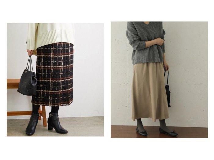 【Other/その他】のスウェードスムースフレアスカート&【Rope Picnic/ロペピクニック】の【WEB限定】チェック柄アイラインスカート スカートのおすすめ!人気、レディースファッションの通販 おすすめファッション通販アイテム インテリア・キッズ・メンズ・レディースファッション・服の通販 founy(ファニー) https://founy.com/ ファッション Fashion レディース WOMEN スカート Skirt アウター Coat Outerwear Aライン/フレアスカート Flared A-Line Skirts ロングスカート Long Skirt ショート チェック ツイード バランス ポケット モダン ラップ 冬 Winter 秋 スタンダード フェイクスウェード フレア リラックス ロング |ID:crp329100000001168