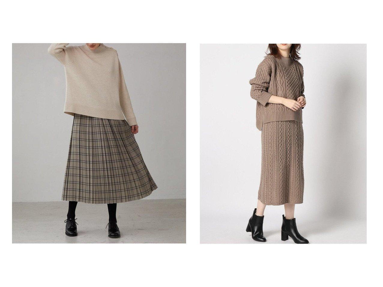 【Bshop/ビショップ】の【LE GLAZIK】ウールチェック タックギャザープリーツスカート WOMEN&【GLOBAL WORK/グローバルワーク】のケーブルニットSETUP スカートのおすすめ!人気、レディースファッションの通販 おすすめで人気のファッション通販商品 インテリア・家具・キッズファッション・メンズファッション・レディースファッション・服の通販 founy(ファニー) https://founy.com/ ファッション Fashion レディース WOMEN スカート Skirt プリーツスカート Pleated Skirts トップス Tops Tshirt ニット Knit Tops アンサンブル Knit Ensemble シャツ/ブラウス Shirts Blouses セットアップ Setup トップス Tops スカート Skirt ギャザー クラシカル チェック フランス プリーツ ランダム アンサンブル セットアップ バランス |ID:crp329100000001172