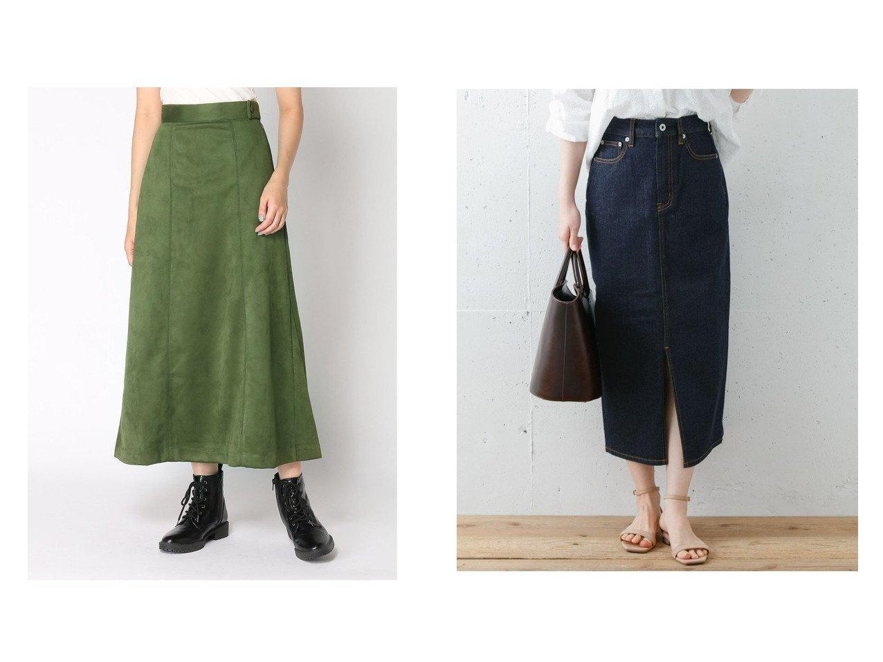 【JEANASiS/ジーナシス】のヌバックライクステッチSK&【Sonny Label/サニーレーベル】の【WEB限定】ロングタイトデニムスカート スカートのおすすめ!人気、レディースファッションの通販 おすすめで人気のファッション通販商品 インテリア・家具・キッズファッション・メンズファッション・レディースファッション・服の通販 founy(ファニー) https://founy.com/ ファッション Fashion レディース WOMEN トップス Tops Tshirt カットソー Cut and Sewn スカート Skirt Aライン/フレアスカート Flared A-Line Skirts デニムスカート Denim Skirts カットソー ショート ストレッチ フィット フレア 人気 |ID:crp329100000001176