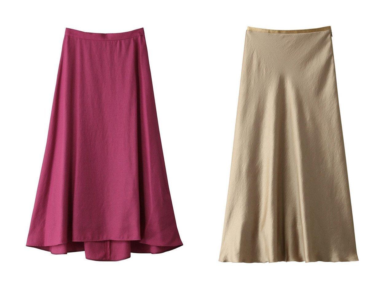 【GALLARDAGALANTE/ガリャルダガランテ】のドレープサテンスカート&【allureville/アルアバイル】の【Loulou Willoughby】トリアセポリエステル前後差スカート スカートのおすすめ!人気、レディースファッションの通販 おすすめで人気のファッション通販商品 インテリア・家具・キッズファッション・メンズファッション・レディースファッション・服の通販 founy(ファニー) https://founy.com/ ファッション Fashion レディース WOMEN スカート Skirt ロングスカート Long Skirt エアリー フェミニン ロング |ID:crp329100000001178