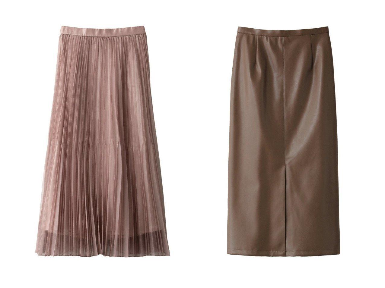 【allureville/アルアバイル】のフェイクレザーフロントベントタイトスカート&【Loulou Willoughby】マットオーガンシアープリーツスカート スカートのおすすめ!人気、レディースファッションの通販 おすすめで人気のファッション通販商品 インテリア・家具・キッズファッション・メンズファッション・レディースファッション・服の通販 founy(ファニー) https://founy.com/ ファッション Fashion レディース WOMEN スカート Skirt プリーツスカート Pleated Skirts ロングスカート Long Skirt エアリー オーガンジー シアー パーティ ロング |ID:crp329100000001179