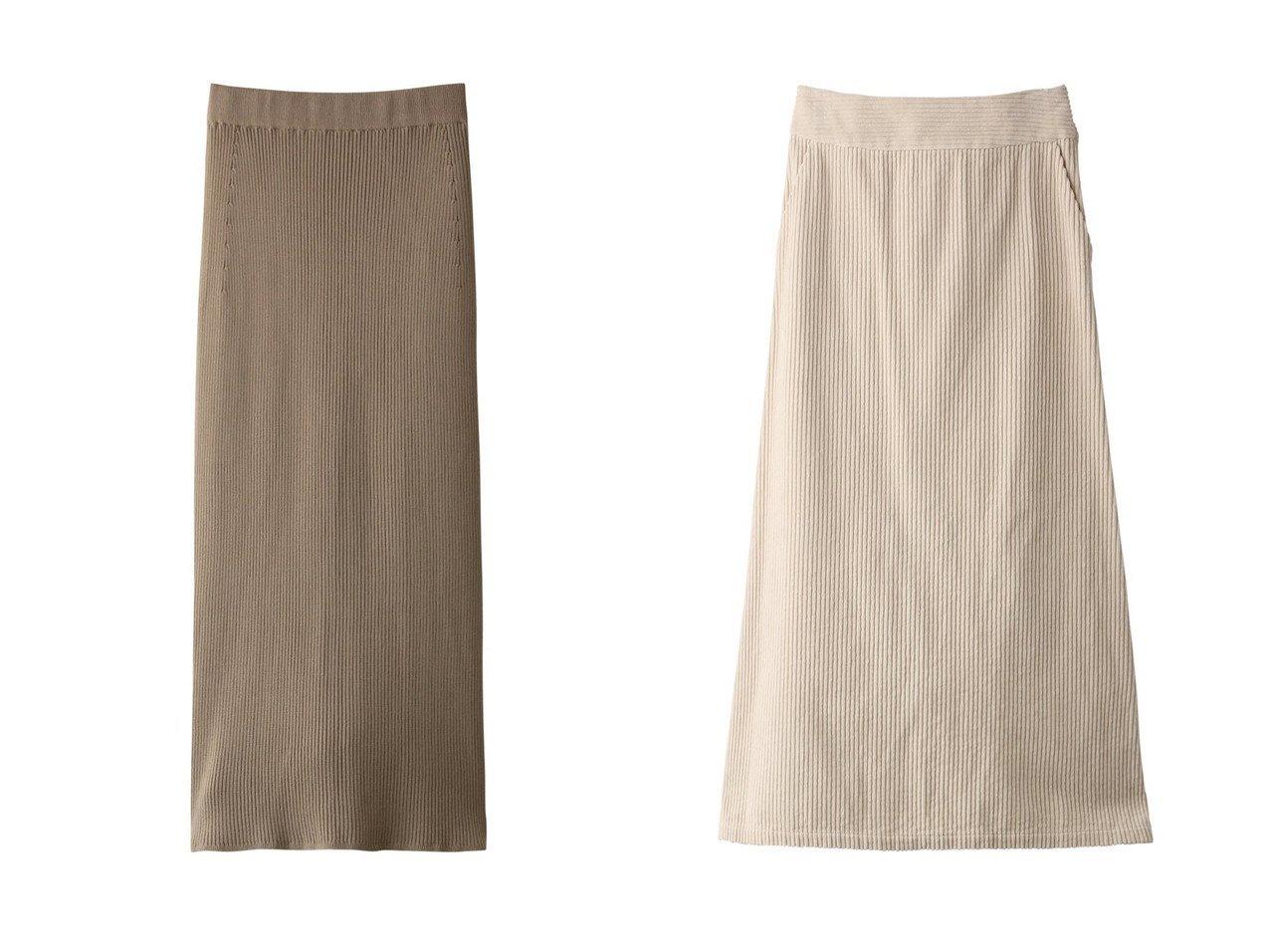 【GALLARDAGALANTE/ガリャルダガランテ】のワイドコールAラインスカート&【Whim Gazette/ウィムガゼット】のキュプラウールリブタイトスカート スカートのおすすめ!人気、レディースファッションの通販 おすすめで人気のファッション通販商品 インテリア・家具・キッズファッション・メンズファッション・レディースファッション・服の通販 founy(ファニー) https://founy.com/ ファッション Fashion レディース WOMEN スカート Skirt ロングスカート Long Skirt Aライン/フレアスカート Flared A-Line Skirts フェミニン ロング コーデュロイ スリット ワイド |ID:crp329100000001180